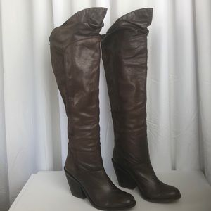 Lucky Brand Over Knee Brown Boots 7 1/2 New
